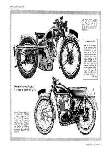 Matchless 1939 1955 Manual De Reparatie