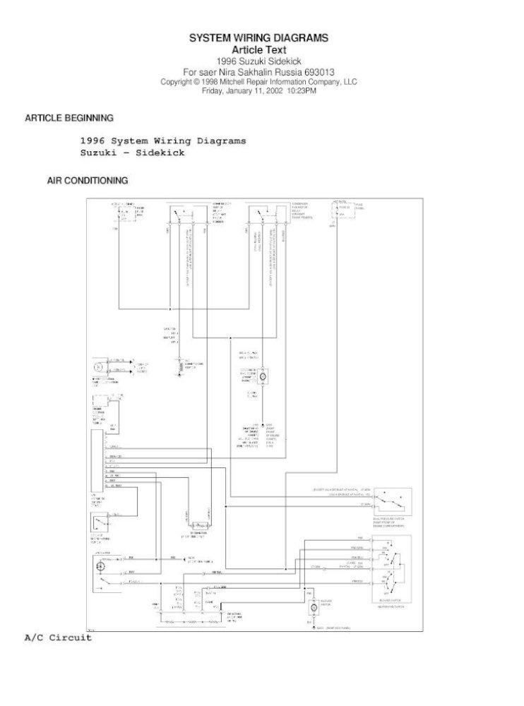 95 Suzuki Sidekick Wiring Diagram - [PDF Document]DOCUMENTS